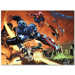 """Marvel Comics """"New Avengers #59"""" Numbered Limited Edition Giclee on Canvas by Stuart Immonen with CO"""