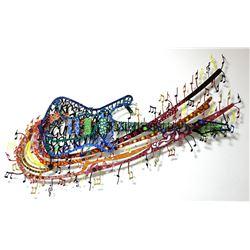 "Patricia Govezensky- Original Painting on Cutout Steel ""Rock 'N' Roll"""