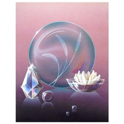 """Ken Shotwell, """"Crystal Blue"""" Hand Signed Original Panting on Board with Certificate of Authenticity."""