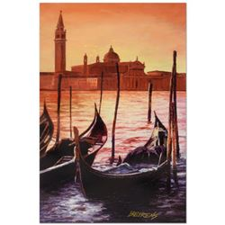 """Howard Behrens (1933-2014), """"Sunset on the Grand Canal 4"""" Limited Edition Hand Embellished Giclee on"""
