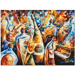 """Leonid Afremov (1955-2019) """"Bottle Jazz IV"""" Limited Edition Giclee on Canvas, Numbered and Signed. T"""