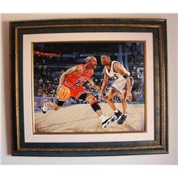 "Yevgeniy Korol- Original Oil on Canvas ""Jordan the Greatest"""