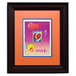 """Peter Max- Original Mixed Media """"Heart Series Ver. I #257"""""""