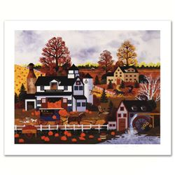 "Jane Wooster Scott, ""Textures of Autumn"" Hand Signed Limited Edition Lithograph with Letter of Authe"