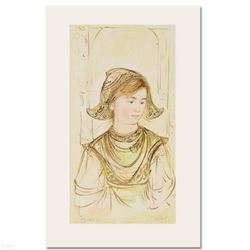 """Helen"" Limited Edition Lithograph by Edna Hibel, Numbered and Hand Signed with Certificate of Authe"