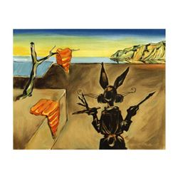 "Chuck Jones ""Persistence Of Carrots"" Hand Signed Limited Edition Fine Art Stone Lithograph."