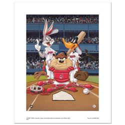 """""""At the Plate (Indians)"""" Numbered Limited Edition Giclee from Warner Bros. with Certificate of Authe"""