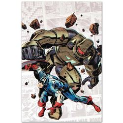 """Marvel Comics """"Captain America: The 1940s Newspaper Strip #2"""" Numbered Limited Edition Giclee on Can"""