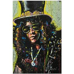 """""""Slash"""" Limited Edition Giclee on Canvas by David Garibaldi, Numbered from Miniature Series and Sign"""