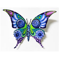 """Patricia Govezensky- Original Painting on Cutout Steel """"Butterfly CCL"""""""