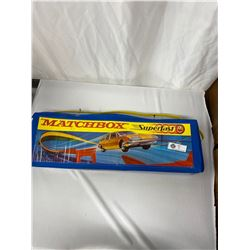 Vintage Match Box, Super Fast Track And Cars With Original Package