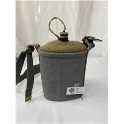 Vintage Military Water Canteen With Cover