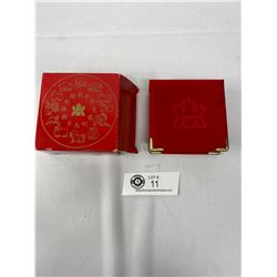 2003 Lunar Silver Coin 925 With 24-Karot Gold Cameo In Original Box With Papers