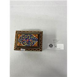 Nice Persian Micro Mosaic Box In Great Shape