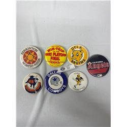 Lot Of Large Size Vintage Sports Pins