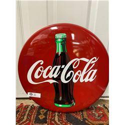 """1991 Coca-Cola Sign 21"""" Diameter"""