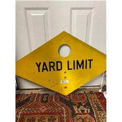 40x24 Diamond Shape Yard Limit Metal Sign From Prinston BC