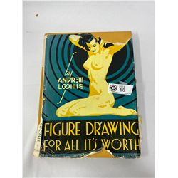 1940s Figure Drawing Hardcover Art Book
