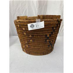 Vintage Coast Saylish Storage Basket Missing Lid, Some Damage Around Rim