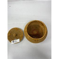 Vintage Coast Saylish Grass Basket With Lid, Good Condition