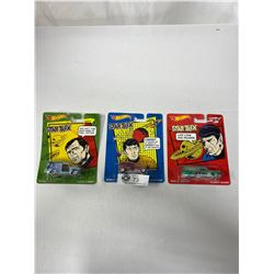 3 Star Trek Hot Wheels In Original Packages