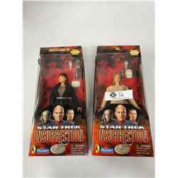 2 Star Trek Incurrection Figures Still In Original Package