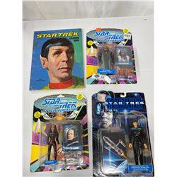 3 Star Trek The Next Generation Figures In Original Boxes