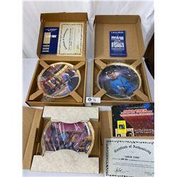 3 Star Trek Souvenir Collector Plates In Original Boxes