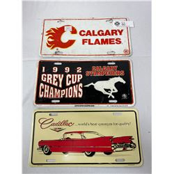3 Decortive License Plate Covers