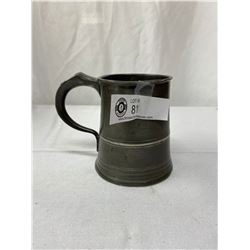 Rare And Unusual Pewter Tankered 1837-1860 Yates And Birch Pint