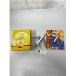 Lot Of 3 Diecast Airplanes, Matchbox DHL, Etc