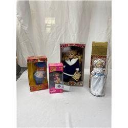 Lot Of 4 Vintage Dolls Still In Box