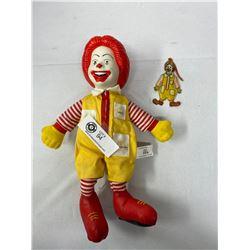 2 Vintage Ronald Mcdonald Collectible Figures