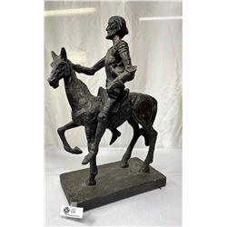 "Nice Vinatge Heavy Don Quixote Statue 16""x24"""