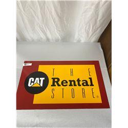 "Nice Heavy Metal 25x14"" The Cat Rental Store Sign"