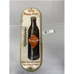 Vintage 1940s Orange Crush Thermometer Brown Bottle Happy Habbit Thermometer Works, Rare Find