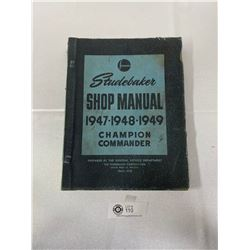 1947-1949 Studebaker Shop Manual Champion Commander
