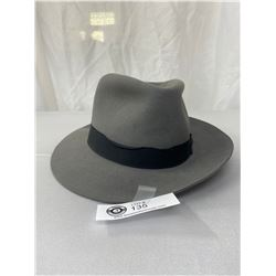 Vintage Stetson Fedora, Style # F5120 Downs Genuine Fur Felt, Size 6 7/8, Good Condition