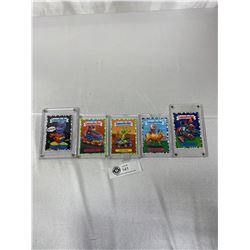 5 1990s Garbage Pail Kids Collector Cards In Cases