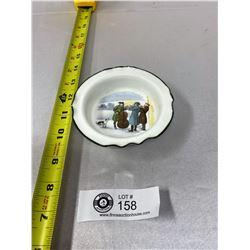 "R.Doldon Small Bowl Hand Painted Scene Of Muscisians 4"" Diameter"