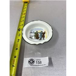 "R.Doldon Small Bowl Hand Painted Scene Of Muscisians 4"" Diameter"