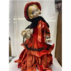 """Vintage Working Order 32"""" Tall Woodwards Christmas Store Display Mechanical Doll"""