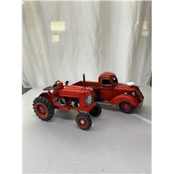 Rustic Truck And Tractor Model Nice Display