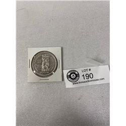 1958 Canadian Silver Dollar In Holder