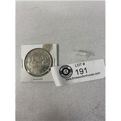 1961 Canadian Silver Dollar In Holder