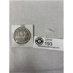 1966 Canadian Silver Dollar In Holder