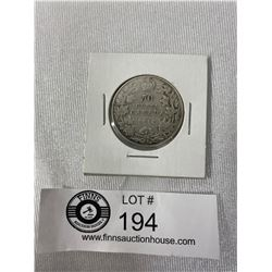 Nice 1910 Canada Silver 50c Coin In Holder