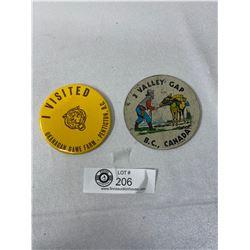 2 Vintage BC Pins, Penticton Zoo, 3 Valley Gap