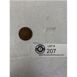 1835 1/4 Anna Coin, India