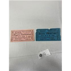 1926 And 1929 Regina Exhibition Blotters, Hard To Find